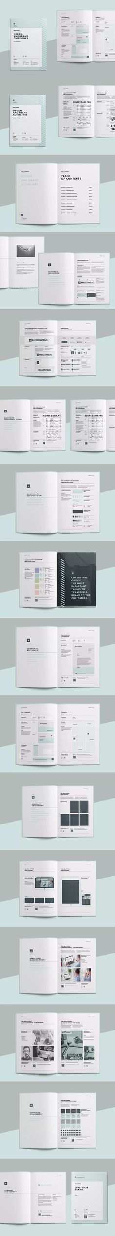 Brand Manual Guideline Brochure Template InDesign INDD - A4 and US Letter Size