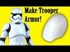 How to Make Stormtrooper Armor - Shoulders (DIY) Jedi Cosplay, Cosplay Diy, Star Wars Halloween, Diy Halloween Costumes, Costume Ideas, Star Wars Party, Diy Storm Trooper Costume, How To Make Stars, Little Girl Costumes