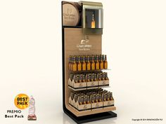 Expositor de suelo Cruzcampo | INNOVACION PLV Window Display Retail, Pos Display, Display Design, Display Shelves, Store Design, Pos Design, Wine Design, Retail Design, Shop Interior Design