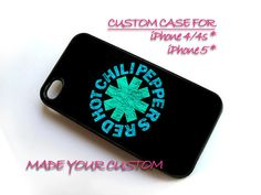Red Hot Chili Peppers Logo, iPhone 4 Case, iPhone 4s Case, iPhone 5 Case, Samsung Galaxy S3 i9300, Samsung Galaxy S4 i9500