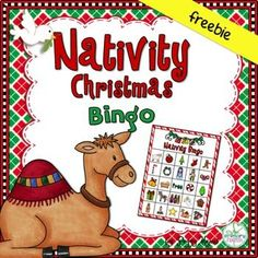 Are you looking for a fun game for your Christian Classroom or Sunday School class? This sweet Nativity Bingo is sure to spark precious discussions and appreciation for Gods Greatest Gift! 24 Nativity Christmas Bingo cards (5x7) Calling cards.Pinterest board made just for you with lots more party and game ideas: Nativity Christmas Literature CentersNativity Christmas Crowns and Readers TheaterNativity Christmas Little Riddle BookNativity Write the Room*************************************...