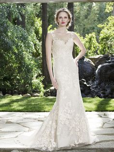 Style 2266 Aspen from Casablanca Bridal - Two in One Wedding Gown with Detachable Skirt