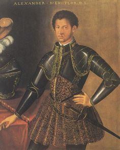 """Alessandro de' Medici (1510 – 1537), Duke of Florence (Italy), was often called """"il Moro"""" (""""the Moor""""). Despite the many portraits of this 16th century Italian Renaissance figure, his African heritage is rarely, if ever, mentioned.[Editor's Note: For more on this omission as it has occurred in the art world, read this January 2005 update.]"""
