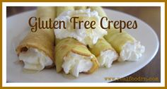 Gluten Free Crepes. An easy, healthy, grain free breakfast option that everyone in the family can personalize with their own filling. No more picky eater problems with this breakfast option!