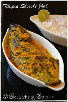 Telapia Sorshe Jhal : Bengali Style Tilapia in mustard sauce