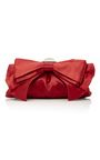 This **Judith Leiber Couture** 'Madison' clutch featured a dainty bow design and an embellished kiss lock closure.