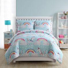 Personalised Rainbow Unicorn Tote Shopping Bag N1 Kids Girls Any Name