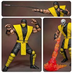 DEAL OF THE DAY Mortal Kombat fanatics will love this fantastic Mortal Kombat Scorpion 1:12 Action Figure. Standing about 7-inches tall, it features over 30 points of articulation, an alternate skull sculpt, 2 interchangeable masks, 9 pairs of palms, a Hell-Fire effect, and 2 Scorpion spears. Be on the lookout for the rare bloody variant chase figure.  TO BUY CLICK ON LINK BELOW http://tomatovisiontv.wix.com/tomatovision2#!action-figure/c1t9c