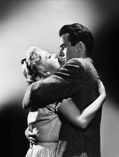 Anne Baxter and Montgomery Clift - I Confess (Alfred Hitchcock, 1953)