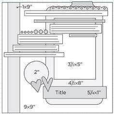 Scrapbook Page Sketch 303