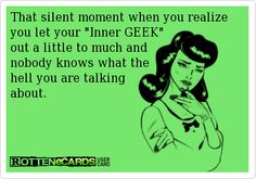 Of course, my Inner Geek is twitching at that typo...