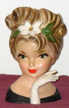"""MITZI GAYNOR"" HEAD VASE BY INARCO #E2968"