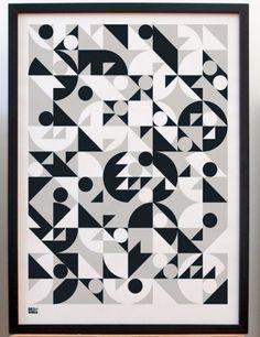 Stronger Geometric Print