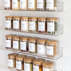 Laundry Room Ideas Discover Modern Pantry Labels Customization Available Durable Water & Oil Resistant Square or Round fits Mason Jars Kitchen Organization Pantry, Home Organisation, Kitchen Pantry, Organization Hacks, Kitchen Labels, No Pantry, Pantry Storage, Kitchen Items, Spice Rack Organization