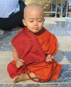 Boy, Buddist Monk. Spiritual Grace....