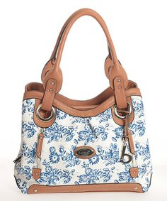 Look at this Marine Floral Two-Zip Tote on #zulily today!