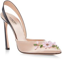 Giambattista Valli Satin Slingback Pumps