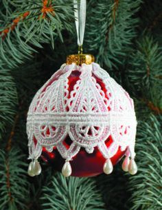 Lots of patterns, where to buy info, etc. for making Victorian style lace ornaments (this apple cider recipe is part of their post! Victorian Christmas Ornaments, Crochet Christmas Ornaments, Noel Christmas, Diy Christmas Ornaments, Handmade Christmas, Christmas Tree Decorations, Beaded Ornaments, Holiday Crafts, Saint Nicolas
