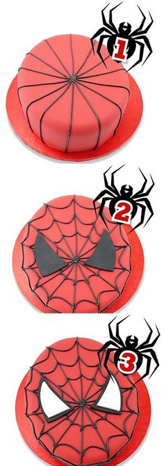 Spiderman cake. I will definitely be making this for Andrew on his birthday :)