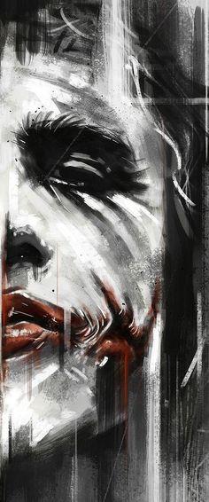 Batman Anniversary Tribute - PP :: Heath Ledger as Joker in 2008 - Art by Robert Bruno by LyndsiHermsenMoulton Joker Batman, Der Joker, Joker Art, Joker And Harley Quinn, Joker Cartoon, Batman Stuff, Superman, Comic Books Art, Comic Art