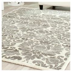 Nadine Rug featuring a damask motif. Find this and more at jossandmain.com