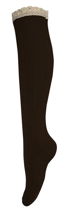 Peach Couture Lace Trimmed Warm Stylish Cotton Knit Knee High Boot Socks (Coffee). New by Peach Couture (A Registered Trademark). Warm knit fashionable knee hich boot socks. The perfect item to put a finishing touch on any fall or winter outfit!. Features a Lace trimmed top to accentuate any pair of boots. Product Materials: 80% Cotton 20% Gauzing.