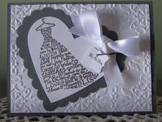 Stampin' Up Handmade Greeting Card Wedding Dress by ConroysCorner, $3.75