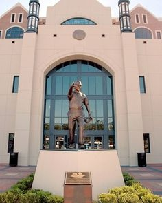 Coach Bobby Bowden Statue at Doak Campbell Stadium. Bobby Bowden coached the Florida State Seminoles football team from the 1976 to 2009 seasons. He holds the NCAA record for most career wins and bowl wins by a Division I FBS coach.