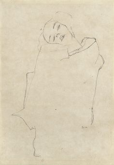 :: Girl with tilted head, Egon Schiele ::