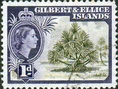 Gilbert and Ellice Islands 1956 SG 65 Pandanus Pine Fine Used Scott 62 Other Gilbert Island Stamps HERE