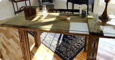 barn door desk