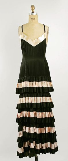 Dress, Evening  Callot Soeurs (French, active 1895–1937)  Date: 1930 Culture: French Medium: silk Dimensions: Length: 58 in. (147.3 cm)