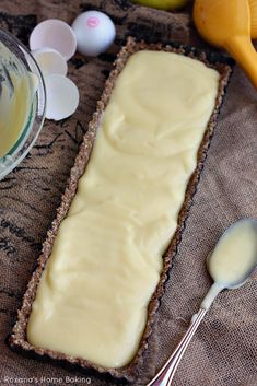 Tangy lemon juice and zest pair perfectly with the nutty crust in this creamy lemon curd tart, made lighter with the addition of a secret ingredient.