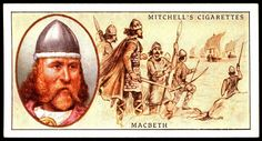 "Mitchell's Cigarettes (Glasgow) ""Famous Scots"" (series of 50 issued in 1933) #1 Macbeth, King of Scotland (d1057)"