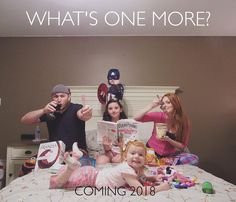 adorable baby announcement for couples 1st child together 4th total