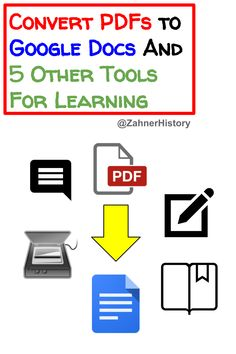 Learn this easy hack to convert PDFs to Google Docs and several useful tools for working with PDFs in connected classrooms. Instructional Strategies, Google Docs, Apps, Classroom, Technology, Tools, Education, Learning, Easy