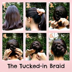 Hairstyles for short/medium hair. For more hairstyles and DIY proyects visit: cr. Hairstyles for s Easy Hairstyles For Medium Hair, Medium Short Hair, Boho Hairstyles, Quick Hairstyles, Everyday Hairstyles, Medium Hair Styles, Stylish Hairstyles, Hairdos, Hairstyle Ideas