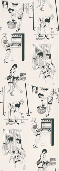 50's Housewife (Half Scale) wallpaper by Dupenny
