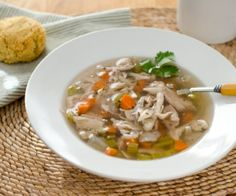 Paleo Crock Pot Chicken Soup is comfort food pure and simple. And it's gluten-free, grain-free and dairy-free.