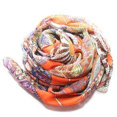 Passion Orange Wheel Scarf @Noveltylane.com