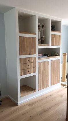 Living Room Storage, Living Room Furniture, Home Furniture, Alcove Storage, Best Closet Organization, Wall Unit Designs, Home Decor Shelves, Parents Room, Shelving Design