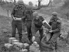 Sorting of mail for personnel of the Loyal Edmonton Regiment near Ortona, Italy, 21 December Canadian Soldiers, Canadian Army, British Army, Royal Canadian Navy, Army Infantry, Killed In Action, Man Of War, Bad Picture, D Day
