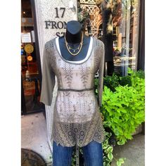 Love & Liberty top with denim jeans #jmodefashions