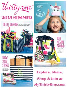 Thirty-One Gifts welcome to summer styles. Thirty One Party, My Thirty One, Thirty One Gifts, Thirty One Organization, Thirty One Purses, Thirty One Business, Cinch Bag, 31 Gifts, 31 Bags