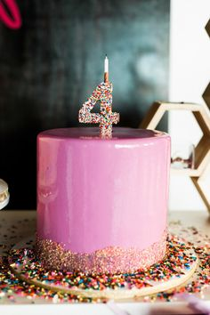4th birthday cake! http://www.stylemepretty.com/living/2015/10/16/mocktail-4th-birthday-party/ | Photography: Sara Hasstedt - http://www.sarahasstedt.com/