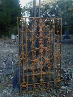 GATE, from Gallery Balcony New Orleans ornate cast iron architecture