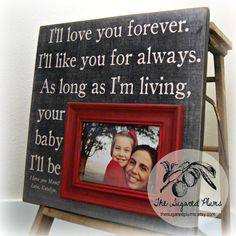 Mothers Day Gifts Picture Frame Personalized by thesugaredplums, $75.00