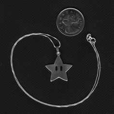 Sterling Silver Mario Star Necklace Video Game Fan Art Jewelry on Etsy, $42.00 CAD