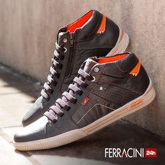 O modelo Snap 2031C é composto por couro natural e macio, aliado ao solado leve. Compre aqui: #ferracini24h #shoes #cool #trend #brasil #manshoes J Shoes, Shoe Boots, Gladiator Sandals, Casual Shoes, High Top Sneakers, Mens Fashion, Stylish, Tennis, Clothes