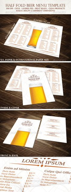 Frankenmuth brewery beer menu Publication Design menus Pinterest - beer menu